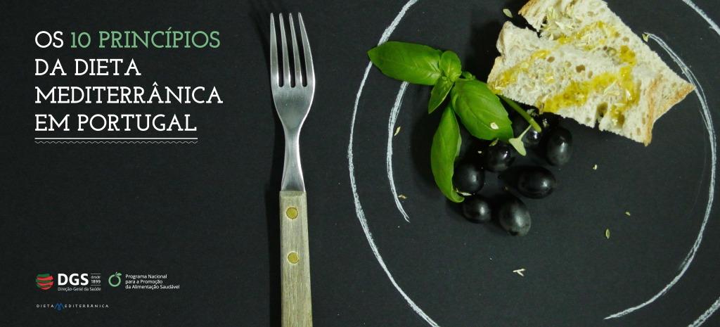 Os dez princípios da dieta mediterrânica em Portugal | Cartaz | Nutrimento