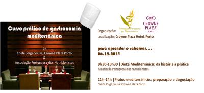 cartaz workshop dieta mediterrânica