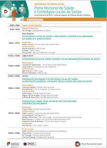 Seminário Internacional - Plano Nacional de Saúde e estratégias locais de saúde 1