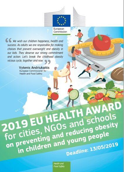 Prémio EU Health Award 2019 para cidades, ONGs e escolas 1