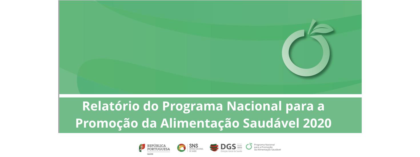 Relatório do Programa Nacional para a Promoção da Alimentação Saudável 2020